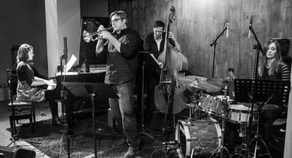 Cathlene Pineda Quartet at the Blue Whale, Los Angeles (photo by Eron Rauch)
