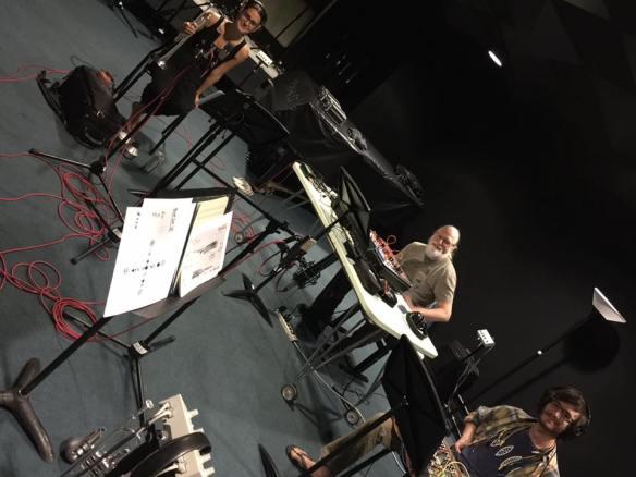 Recording with Burnt Dot and Todd Barton at CalArts