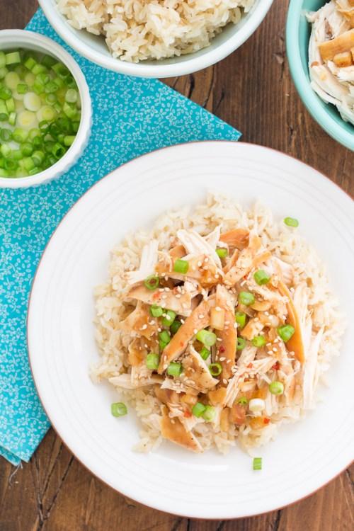 Crock Pot Honey Sesame Chicken on a plate