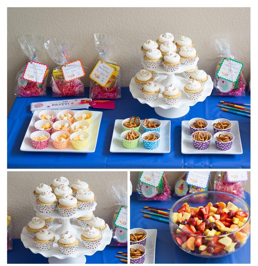 Colorful Art Birthday Party | Kristine's Kitchen