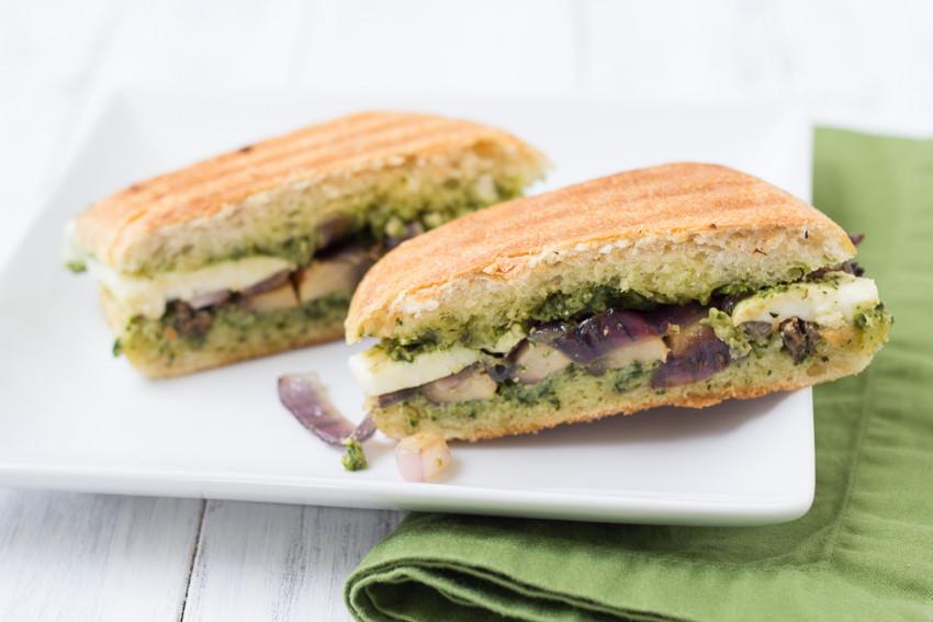 Portabella Pesto Panini - you will love this veggie sandwich! | Kristine's Kitchen