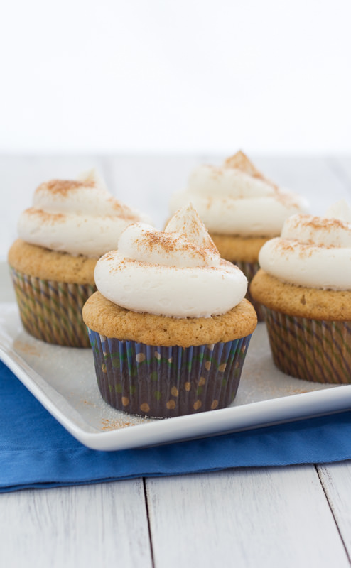 Snickerdoodle Cupcakes by Kristine's Kitchen | Cinnamon-sugar cupcakes with dreamy light and fluffy buttercream