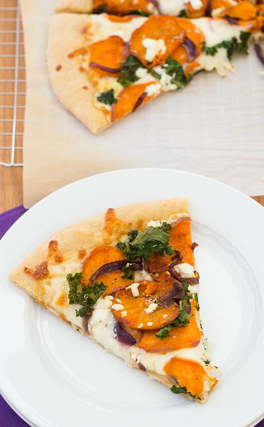 Sweet Potato and Kale Pizza | Kristine's Kitchen
