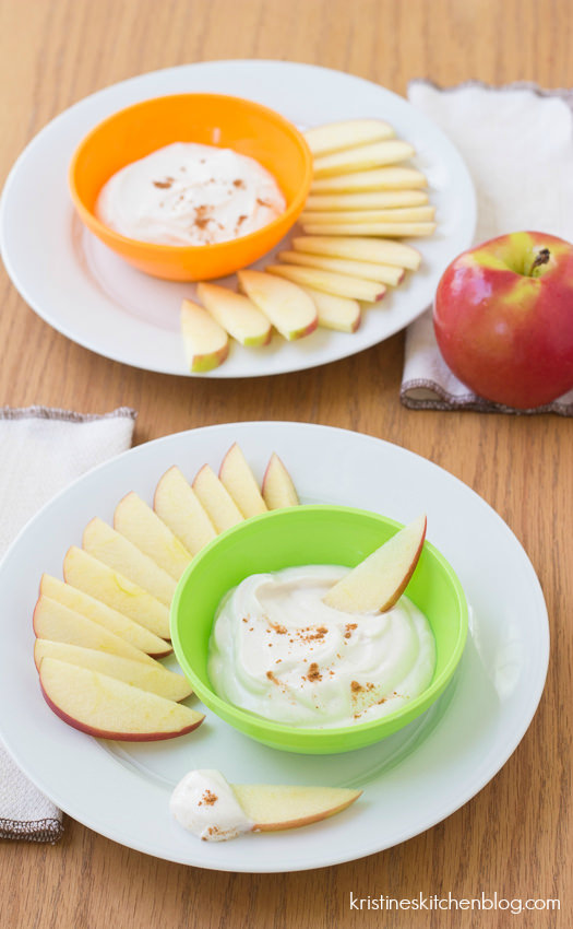 Apple Dippers with Honey-Cinnamon Yogurt {plus a new series: Healthy Bites for Kids}   Kristine's Kitchen