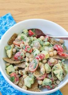 Deconstructed Falafel Salad - easy, healthy, flavorful.