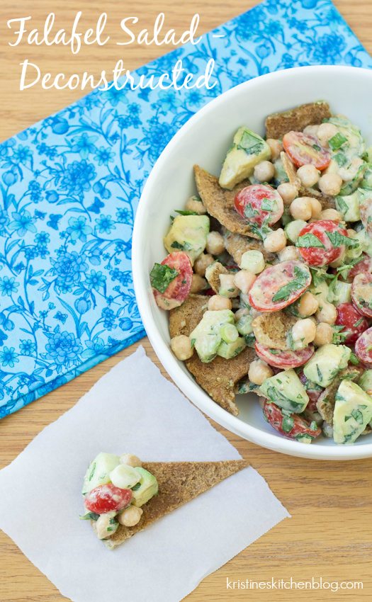 Deconstructed Falafel Salad - easy, healthy, flavorful   Krisitne's Kitchen