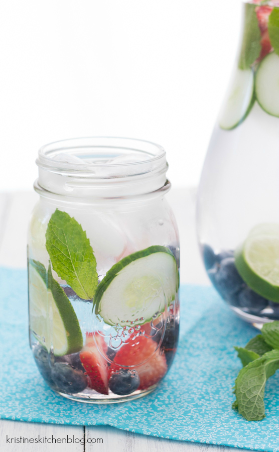 This refreshing fruit water makes it easy to drink your 8 glasses!   Kristine's Kitchen