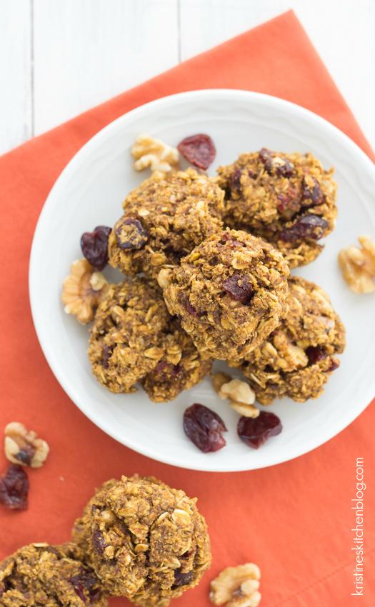 Pumpkin Breakfast Cookies (Gluten-Free) on a plate
