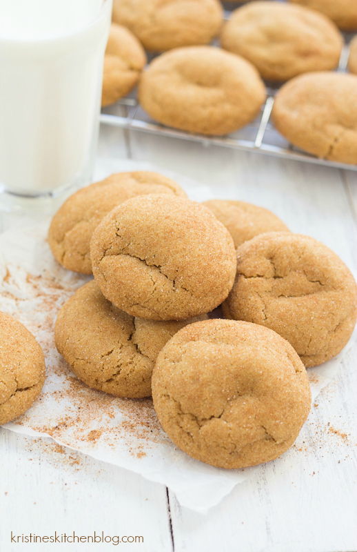 pile of soft and chewy Gingerdoodle holiday cookies