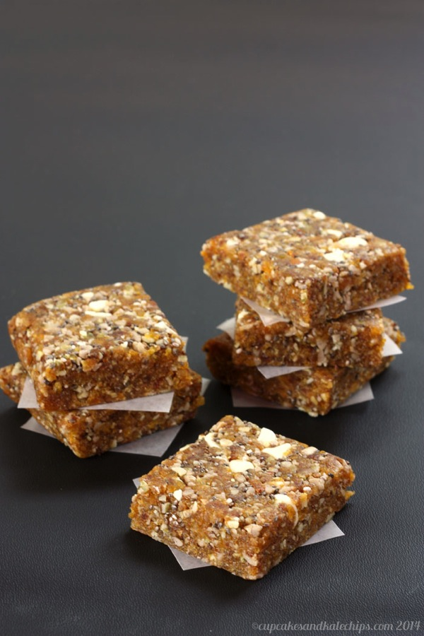 Apricot Chia Energy Bars from Cupcakes and Kale Chips