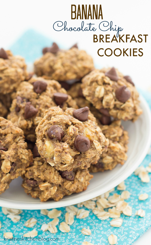 pinterest image with text for banana chocolate chip cookie