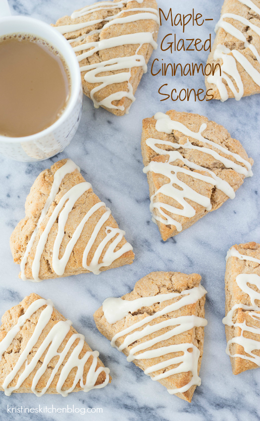 Cinnamon Scones a breakfast treat with coffee