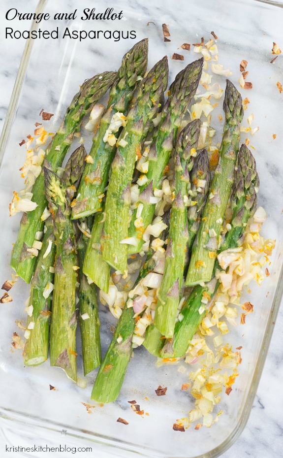 Orange and Shallot Roasted Asparagus - a simple side dish with bright fresh flavors!