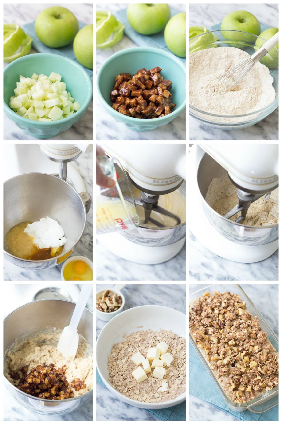 steps for making apple bread