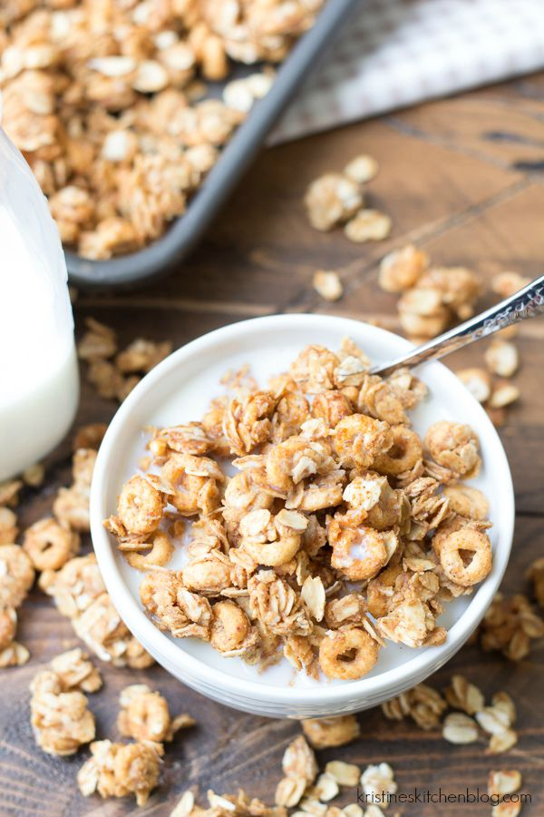 close up bowl of granola