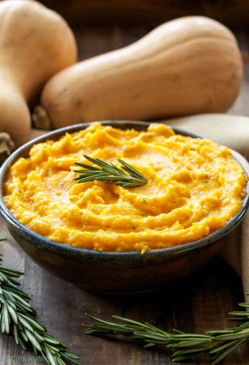 Mashed butternut squash.