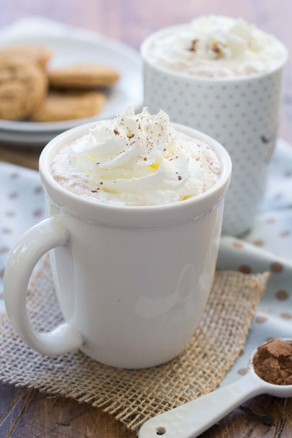 This 3-Ingredient Microwave Hot Cocoa is refined sugar free! It's so easy to make, you won't miss the mix! Enjoy this healthier drink on chilly days!