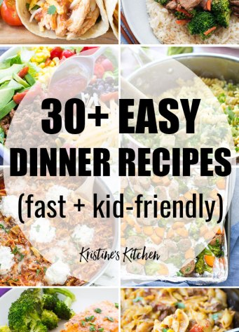 The best quick and easy meals for families. These healthy dinners are perfect for kids and for picky eaters!