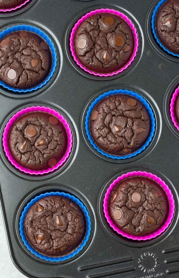 Chocolate Black Bean Blender Muffins {High Protein}