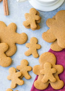 small and medium gingerbread man cookies