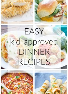 Favorite kid friendly dinner recipes, from my family to yours! 20+ easy dinner ideas that the whole family will love! | www.kristineskitchenblog.com