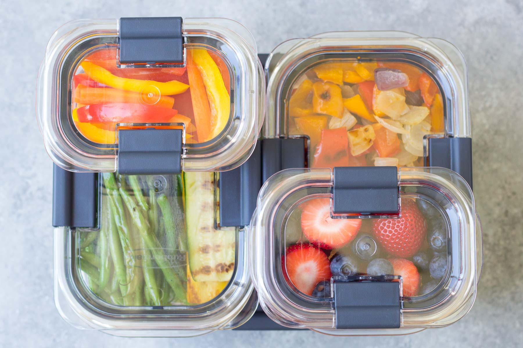 meal prep in clear containers
