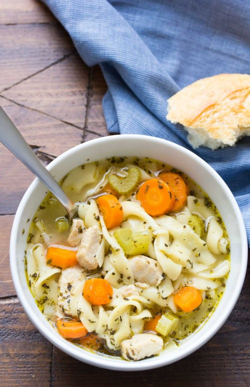 This easy Instant Pot Chicken Noodle Soup recipe is a healthy one pot meal.