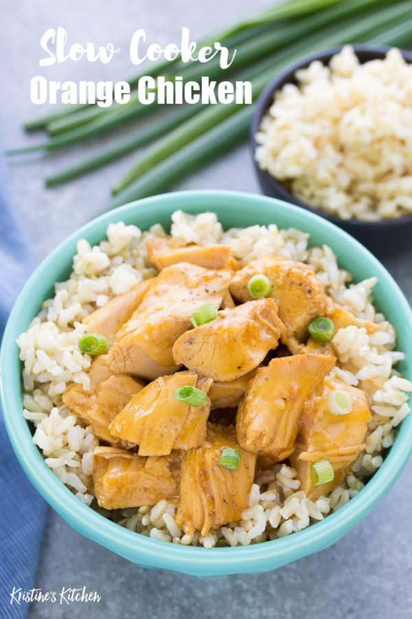 This sweet and tangy slow cooker orange chicken recipe is a quick prep dinner that your family will love! This easy crock pot orange chicken is refined sugar-free and can easily be made gluten-free.