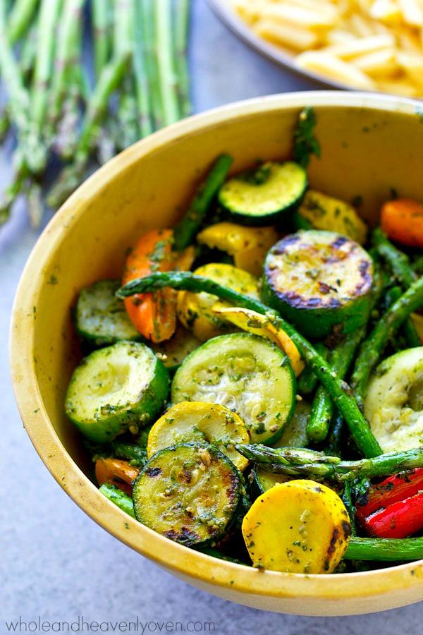 Pesto Grilled Vegetables