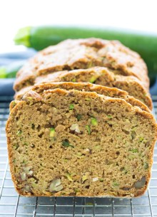 The best healthy zucchini bread made in one bowl! This is the best easy recipe for zucchini bread! This healthy applesauce zucchini bread can be made with chocolate chips or banana.