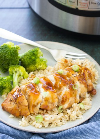 These Honey Garlic Instant Pot Chicken Breasts are always moist, tender and flavorful! These pressure cooker chicken breasts cook perfectly in minutes from fresh or frozen.