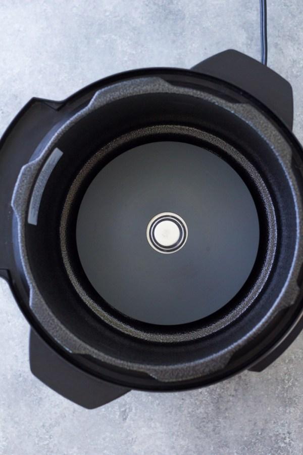 Heating element inside the Instant Pot base unit.