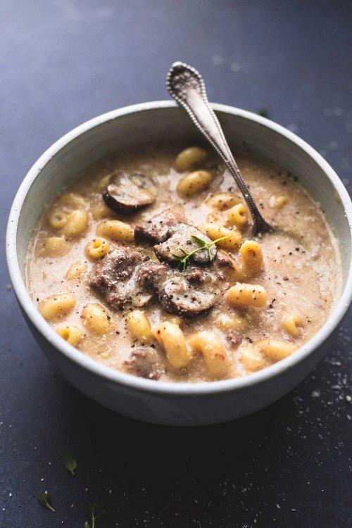 Instant Pot Beef Stroganoff Soup