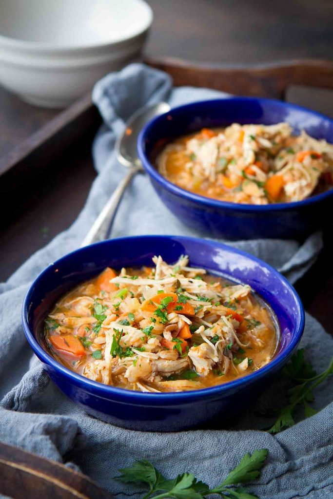 Instant Pot Chicken Farro Stew