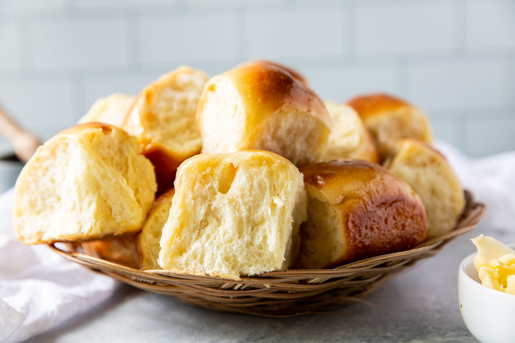 rolls served in a basket
