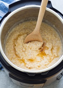 Steel cut oats in an Instant Pot.