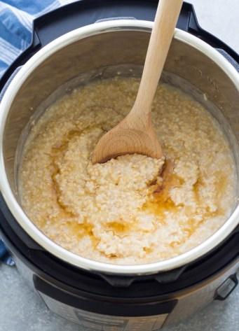 Steel cut oats in an Instant Pot.