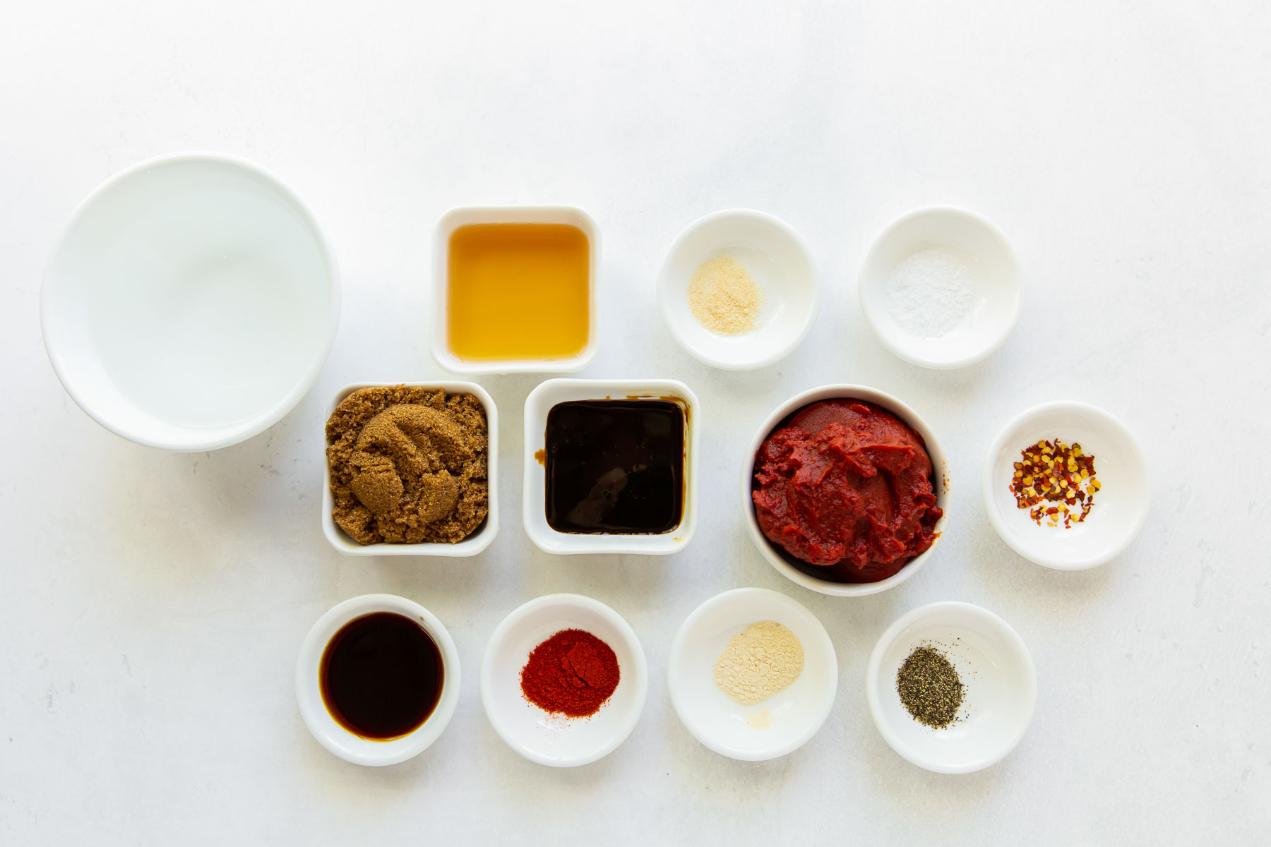ingredients for homemade bbq sauce recipe