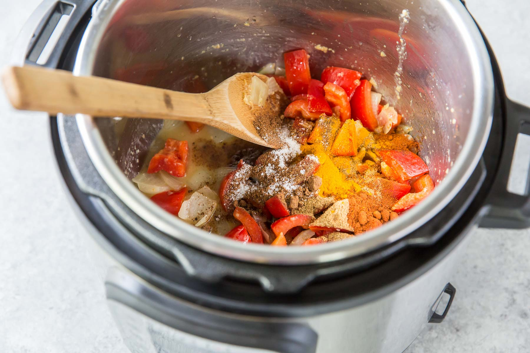 add spices to the instant pot