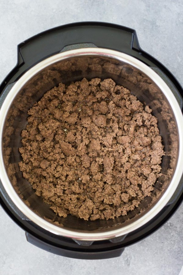 Ground beef after browning.