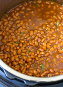 Baked beans in an Instant Pot.