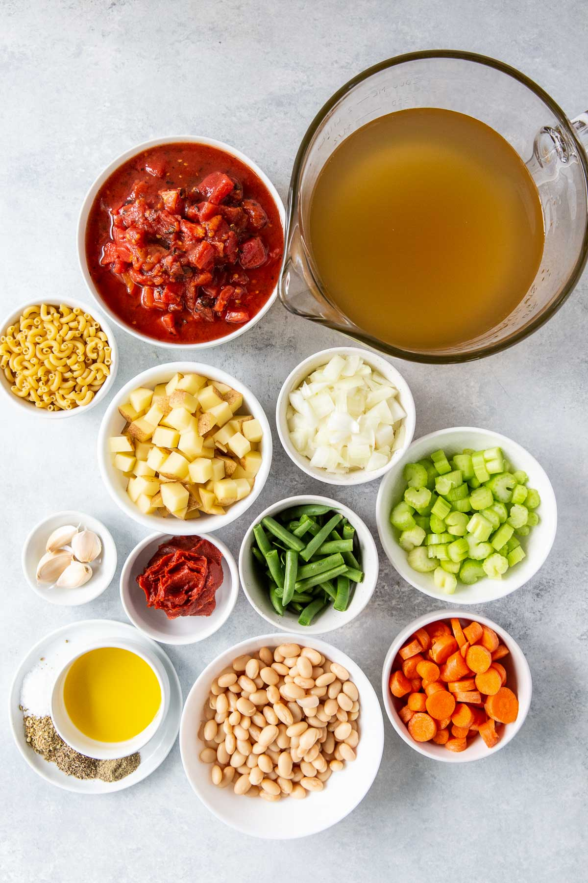 ingredients for instant pot minestrone