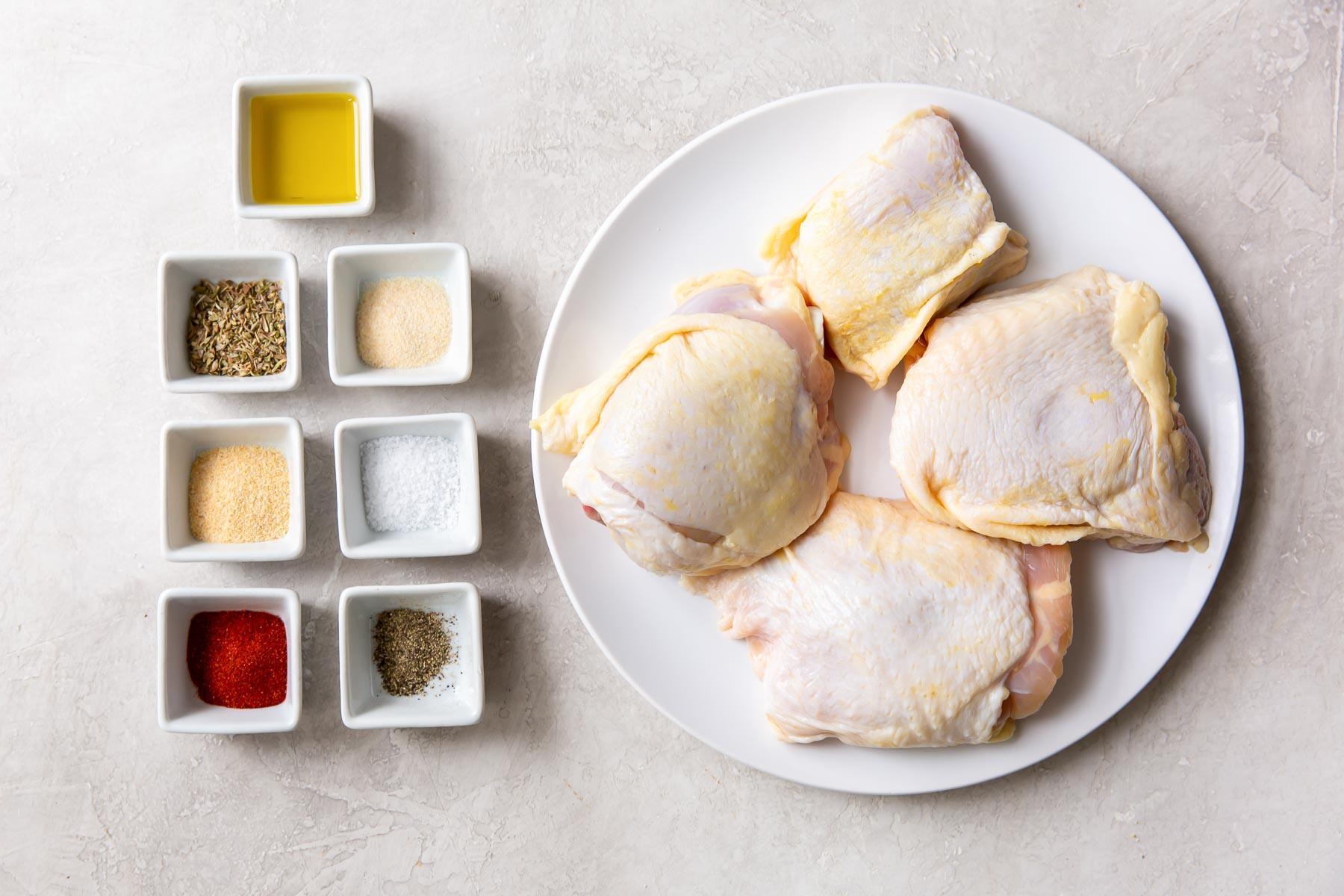 ingredients for air fryer chicken thighs recipe