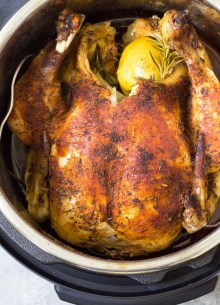 cooked whole chicken in an instant pot