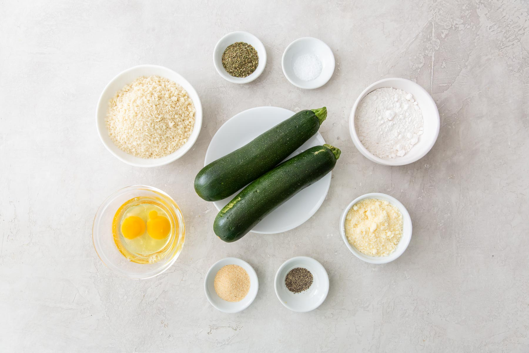 ingredients for air fryer zucchini fries recipe
