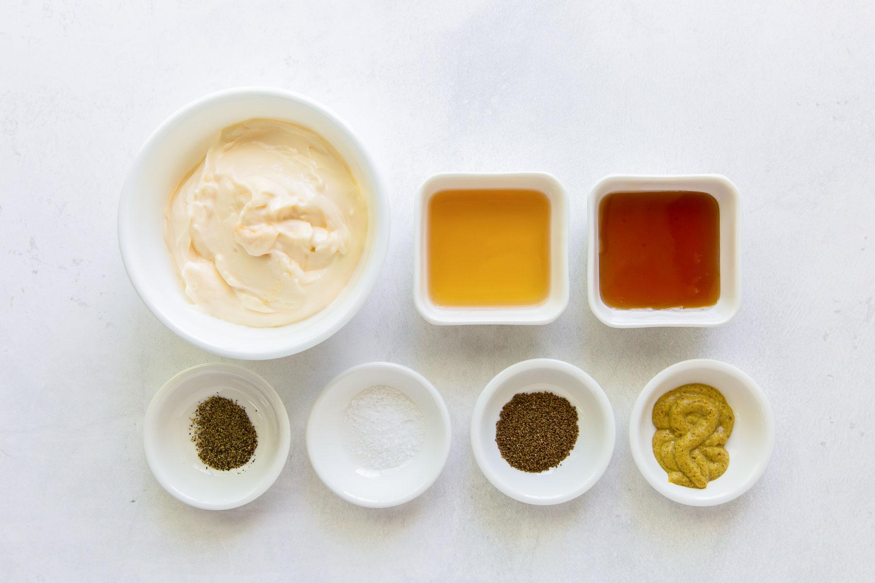 ingredients for coleslaw dressing recipe