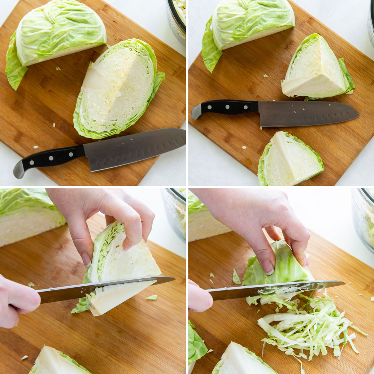how to shred cabbage step by step photos