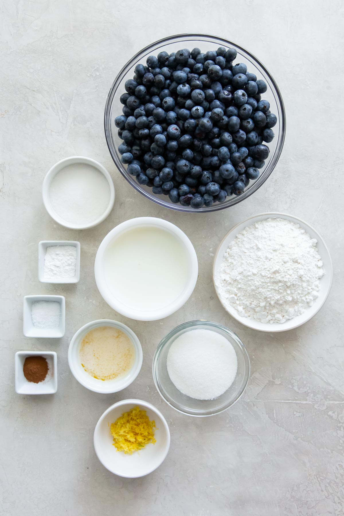 ingredients for blueberry cobbler recipe