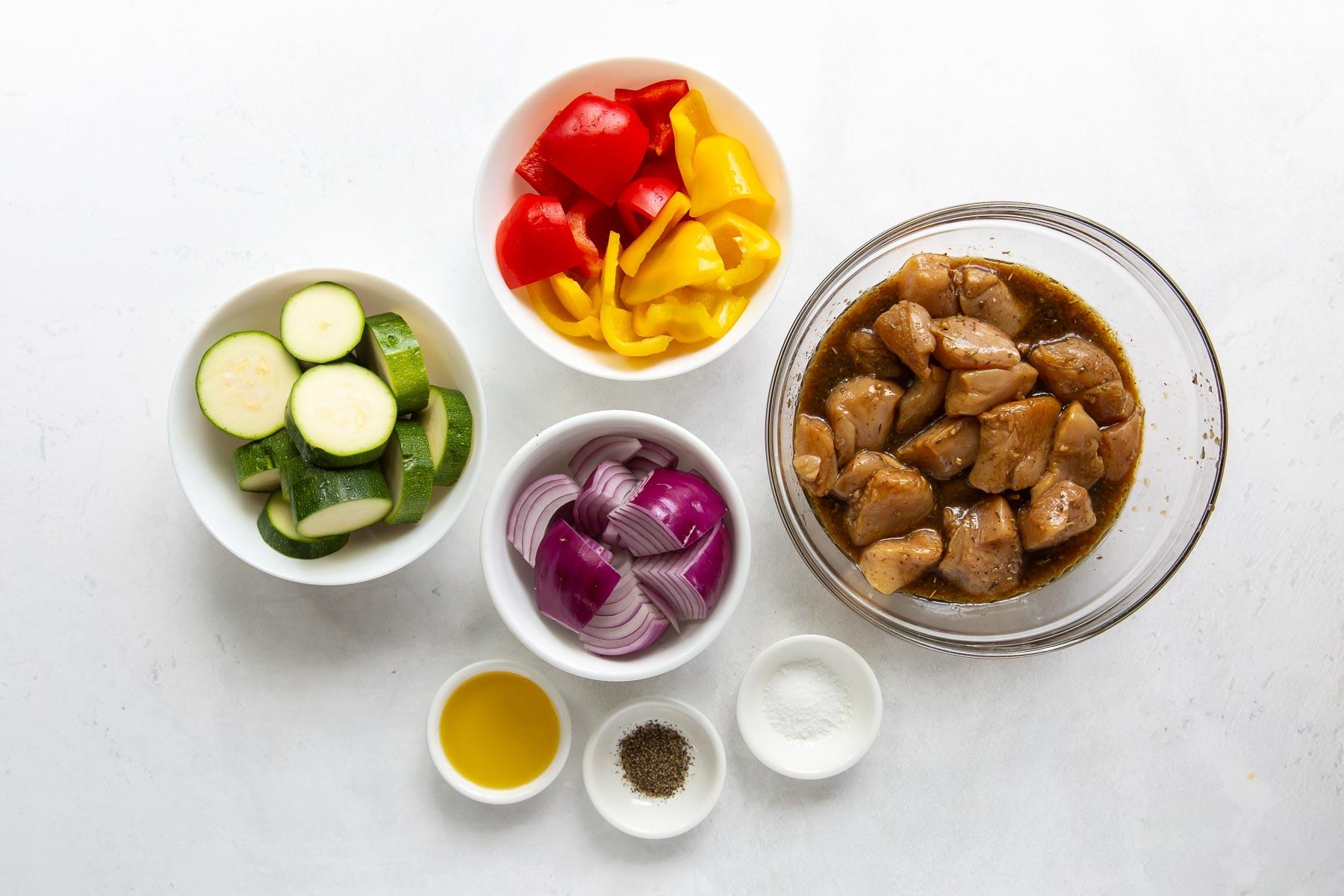 ingredients for chicken kabobs recipe