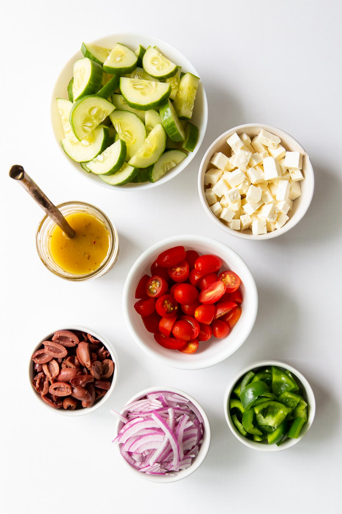 ingredients for greek salad recipe